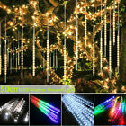 50cm 8 Falling Rain Drop Icicle Snow Fall String LED Cascading Tree Lights Decor