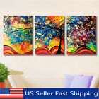 colorful abstract art - Framed 3Pcs Abstract Colorful Tree Canvas Print Art Painting Picture Home Decor
