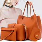 US 4pcs Women Leather Handbag Lady Shoulder Bag Tote Purse Messenger Satchel Set