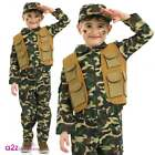 Child Desert Army Boys Costume Soldier Book Week Camouflage Fancy Dress Outfit