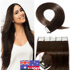 Tape in Skin Weft Remy Human Hair Extensions Dark Brown 20/40Pcs 7A Straight AU