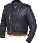 Mens Leather Motorcycle Jacket, with Zip Out Liner and Gun Pocket 012.00