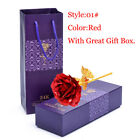 24K Gold Plated Rose Flower Mother's Day Gift Party Wedding Birthday For Girl
