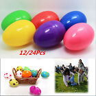 12/24x Mix Colored Plastic Empty Fillable Easter Eggs Hunt Baby Child Gift Party