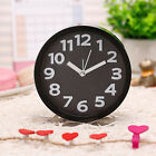 Candy Color Stereo Number Desktop Bedside Analog Alarm Clock Silent Mute WRH8
