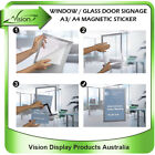 A3/ A4 real estate agent window glass door poster magnetic self cling sticker