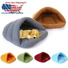 Pet Dog Cat Kitten Cave Crate Keep Warm Winter Bed House Sleeping Bag Plush Mat