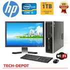 HP 8200 Intel CORE i5 Speed Desktop Computer WINDOWS 10 + LCD + KB + SDD + 1TB