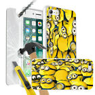 Minions Design Case Skin Cover + Tempered Glass for Various Mobile Phones 0032