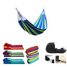 Double Hammock Bed Rope Swinging Strong Hanging Tree Strap Hooks Camping Beds AU