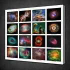 COLLAGE COLLECTION OF SPACE OBJECTS CANVAS PICTURE PRINT WALL ART FREE DELIVERY