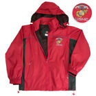 US MARINE CORPS RED AND BLACK  WIND BREAKER  Brand New