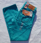 New Levi's Men's 501 Shrink To Fit  Raw Unwashed Jeans Size 32x32 40x32 Sky Blue