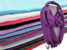 Pashmina Wrap Scarf Womans Plain Stole Evening Cover Up Modest Hijab Scarf Cheap