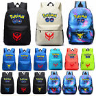 Unisex Pokemon Go Backpack Shoulder Bag Boys Girls Rucksack Travel School Bags