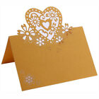 50pcs Precise Cut Love Heart Table Name Card Anniversary Party Events Decor UK