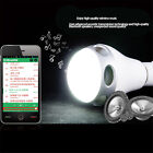 Smart Wireless Bluetooth Bulb Speaker E27 8W RGB LED Lamp Cellphone APP Control
