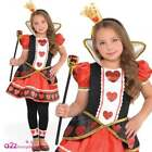 Alice Mad Hatter Queen of Hearts Cheshire Cat Girls Costume Fancy Dress Book Day