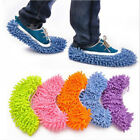 1Pair Convenient Home Cleaning Shoes Lazy Mop Swob Slippers Cleaner Detachable