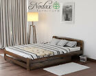 *NODAX*_New Wooden Solid Pine Double Bedframe 4ft6in Under Bed Drawers Set