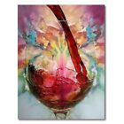Abstract Giclee Red Wine Glass Oil Painting Canvas Wall Art Print Picture Decor фото