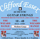 ACOUSTIC GUITAR STRINGS. CLIFFORD ESSEX PHOSPHOR BRONZE BALL-ENDS. 10 - 48.