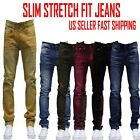 MEN Jeans Slim STRETCH FIT SLIM FIT Trousers Casual Pants SKINNY BLACK JEAN