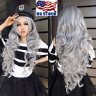 Ladies 80cm Long Curly Wigs Fashion Cosplay Costume Hair Ani