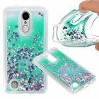 Bling Hybrid Liquid Glitter Rubber Protective Soft Case Cover For Cell Phones
