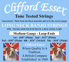 LONG NECK BANJO STRINGS. MEDIUM GAUGE. CLIFFORD ESSEX QUALITY.