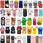 For Samsung Note 3/4/5/8 Cute 3D Cartoon Hot Soft Silicone Phone Case Cover Back