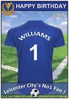 Leicester Inspired Football Birthday Cards (2 Designs) - Personalised