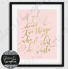 Fashion Art Chanel Beauty Room Quote Girls Bedroom Decor Print colour options