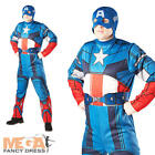 Captain America Superhero Men's Fancy Dress Adults The Avengers Costume Outfit
