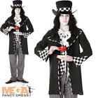 Mad Hatter Mens World Book Day Fancy Dress Adults Character Costume Outfit New