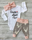 Newborn Infant Baby Girls Clothes Romper Playsuit Pants Bodysuit Outfit UK Stock