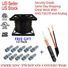 RG59 SIAMESE COAXIAL Cable  Camera CCTV 200ft 500ft 1000ft 20AWG + 18/2 Security