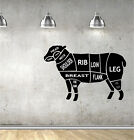 LAMB CUTS vinyl wall art QUOTE sticker KITCHEN butcher cooking baking meat