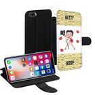 Betty Boop Printed PU Leather Stand Wallet Case for Apple iPhone Models - 0013 $15.38 USD