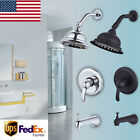 Costs of doing business Rainfall Shower Faucet Showerhead Tub Spout with Diverter Valve USA