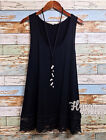 New Long Tank Top Lace Extender Layering Tunic Loose Fit Plus Size 1x, 2x 3x