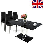 """Set """"V """" Glass Dining Table Set / 6 Chairs only Seater Dining Furniture Kitchen"""