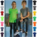 Childrens Sports T-Shirt Short Sleeve Top Breathable Running Gym PE Light Kids T