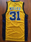 NBA Indiana Pacers Reggie Miller Throwback Hardwood Sewn/Stitched Jersey NWT