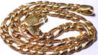 SOLID 14K YELLOW GOLD FIGARO BRACELET 8  INCHES LONG 6.50 GRAMS NO RESERVE