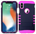 For Apple iPhone X - KoolKase Hybrid Shockproof Silicone Cover Case - Navy Blue