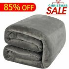 Blankets Throws - Full Queen Size Plush Fleece Heated Blanket Bed Comfort Soft Warmth Walnut