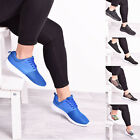 Ladies Women Lace Up Floral Trainers Casual Gym Fitness Jogging Sport Flat Shoes