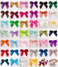 6 Pack Self Adhesive Large 5cm Pre Tied Satin Bows Ribbon Craft