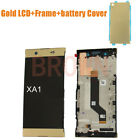 For Sony XA1  G3116 G3121 G3112 LCD Screen Touch with Frame+Battery Cover Glod